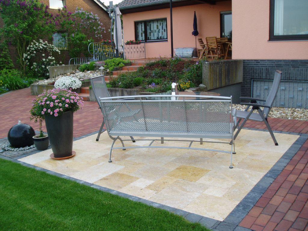 Terrasse Travertin Nachteile : Gartenlandschaften com Terrassen
